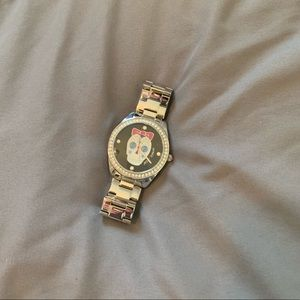 Betsey Johnson Sugar Skull Watch